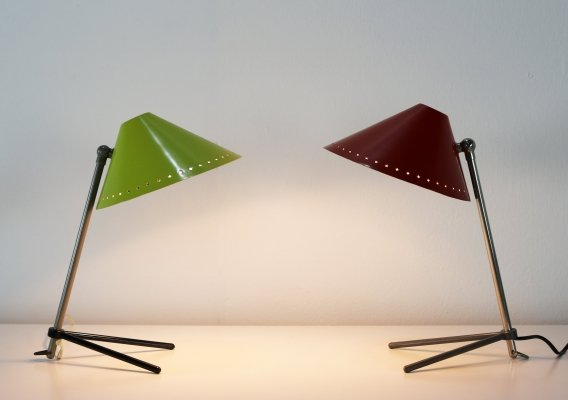 Pair of Pinocchio desk lamps by H. Busquet for Hala Zeist, 1960s