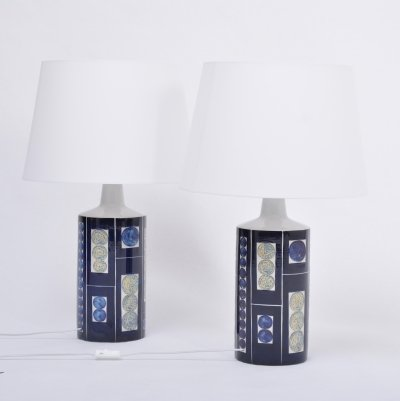 Pair of Royal 7 Tenera Table Lamps by Ingelise Kofoed for Fog & Mørup, 1967