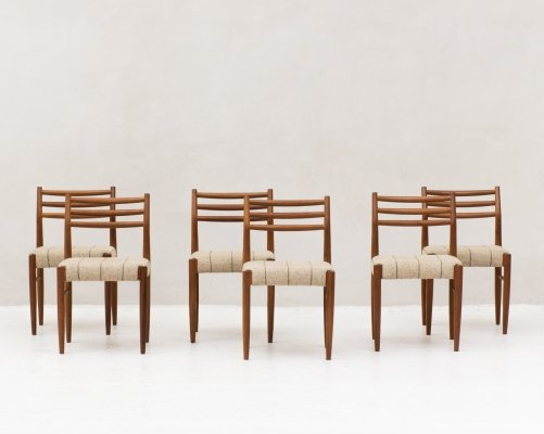 Set of 6 Danish design dining chairs by Randers Møbelfabrik, 1960's