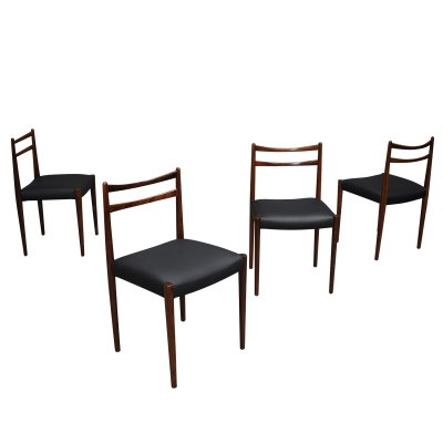 Set of 4 Danish Brazilian rosewood dining chairs, 1950's