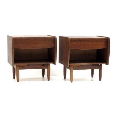 Set of two vintage bedside tables by Louis van Teeffelen, 1960s