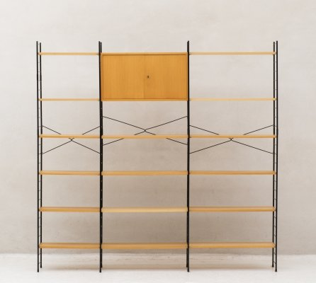Standing wall unit in teak by WHB, Germany 1960's