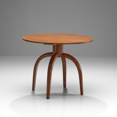 Axel Einar Hjorth Round Coffee Table for Nordiska Kompaniet, Sweden 1937