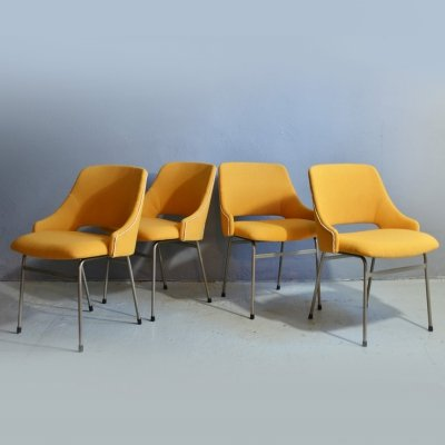 Set of 4 Cees Braakman FM32 dining chairs for Pastoe, 1960s