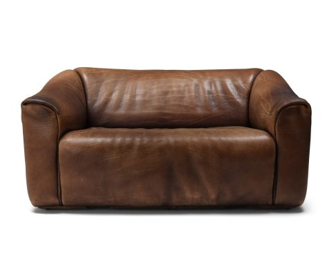 De Sede DS 47 Brown Leather Sofa, 1970s