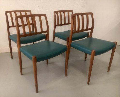 Set of 4 Teak Dining Chairs by Niels O. Møller, Denmark 1960s