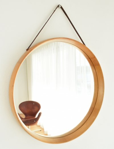 Uno & Östen Kristiansson Oak Wall Mirror, 1955