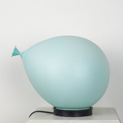 Blue balloon lamp by Yves Christin for Bilumen Italy, 1980's