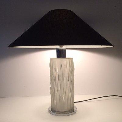 Art Deco Style Glass Table Lamp, 1970's