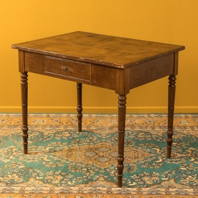 Solid wood desk from the 1920s/30s