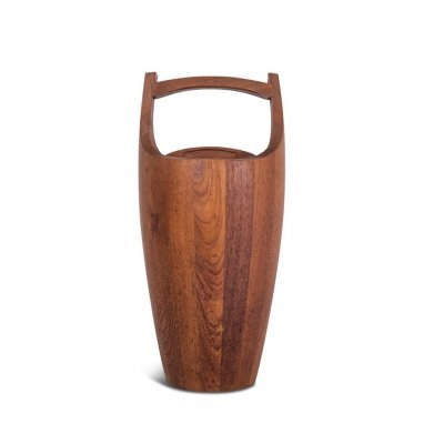 Danish Ice Bucket in Solid Teak by Jens Quistgaard, 1960s