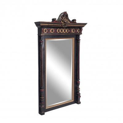 French Regency Style Overmantel Mirror, 1970s