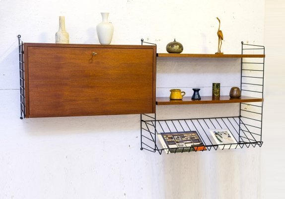Teak String Shelf, 1960s