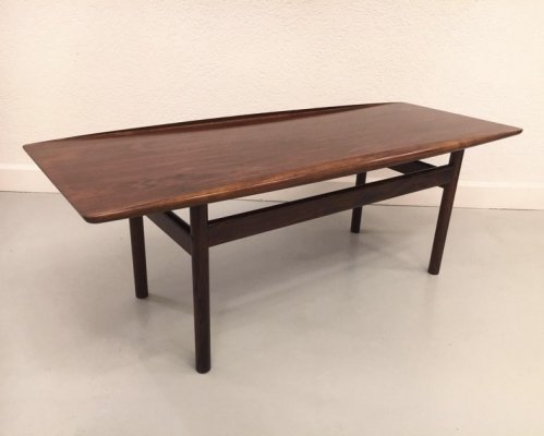 Rio Rosewood Early Coffee Table by Grete Jalk for Poul Jeppesen, 1960's