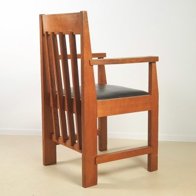Modernist desk chair in solid wood