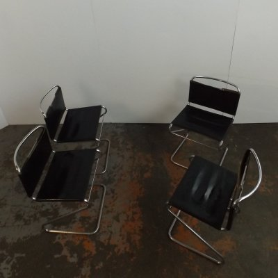Set of 4 Biscia dining chairs by Pascal Mourgue for Steiner, 1960s