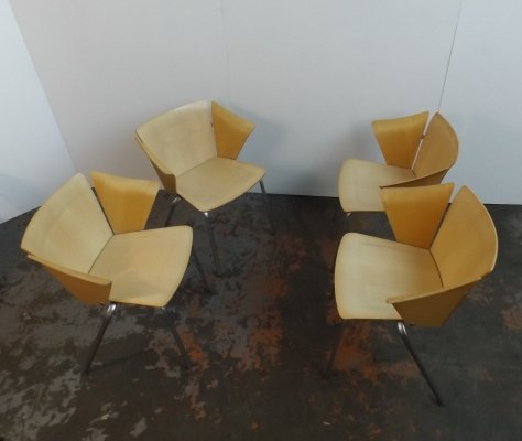 Set of 4 VM02 arm chairs by Vico Magistretti for Fritz Hansen, 1990s