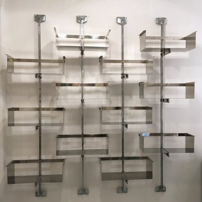 Set of 4 steel adjustable library systems by Vittorio Introini