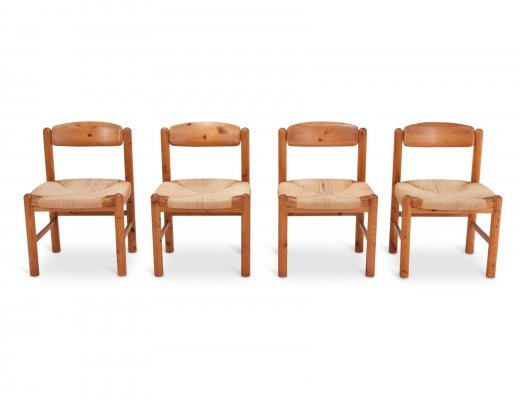 Rainer Daumiller Dining Chairs in Solid Pine, 1970s