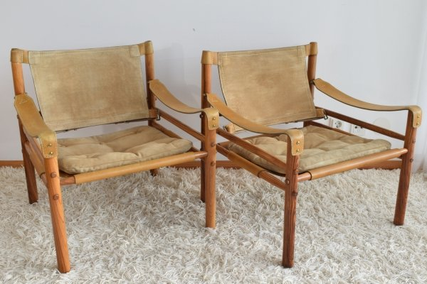 Arne Norell Sirocco Rosewood easy chairs, 1960's