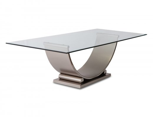 Belgo Chrom Table In Brushed Steel, 1970s
