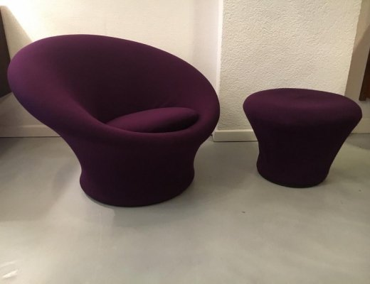 Mushroom Chair & Ottoman by Pierre Paulin for Artifort, 1960's