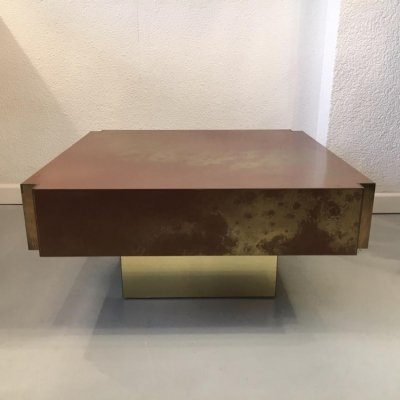 Guy Lefevre Eruption Solaire Coffee Table, 1970's