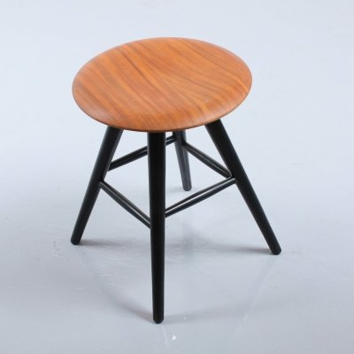 Danish style wooden stool by Pastoe, 1950s