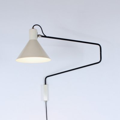 Paperclip wall lamp by J. Hoogervorst for Anvia Almelo, 1950s