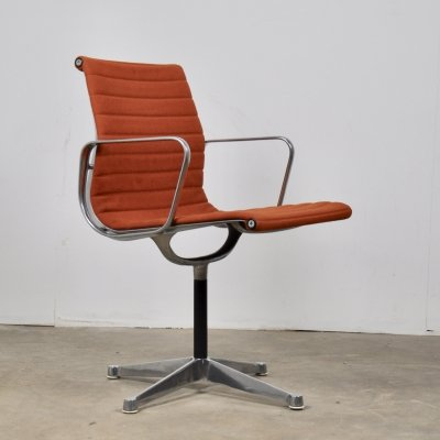 Orange Office Armchair by Charles &Ray Eames for Herman Miller, 1960s