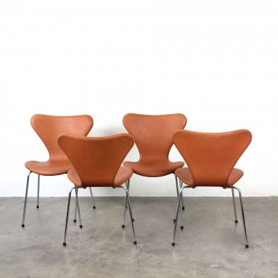 4 x Butterfly / 7 Series dining chair by Arne Jacobsen for Fritz Hansen, 1960s