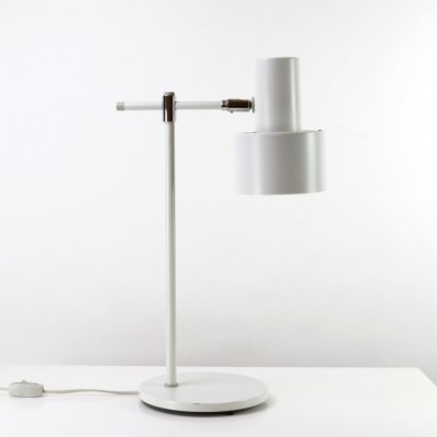 White Lento Desk Light by Jo Hammerborg for Fog & Mørup, Denmark 1960s