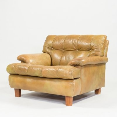 Mid-century Arne Norell leather armchair 'Mexico' by Aneby