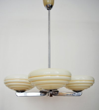 Art Deco Napako Chandelier, 1950s