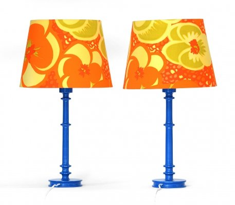 Pair of Table lamps by Uno & Östen Kristiansson for Luxus AB, Sweden 1970s