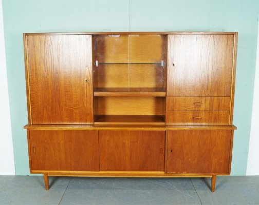 Vintage Cupboard With Vitrine, 1960's