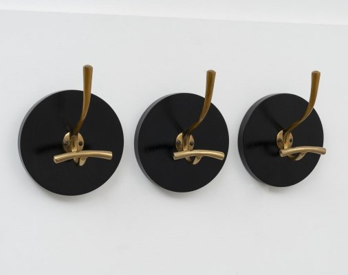 3 Coat Hangers 'Gancio Grosso' AT 1 by Luigi Caccia Dominioni for Azucena, 1950s