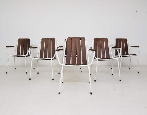 Set of 6 Daneline outdoor dining chairs, Denmark 1970's