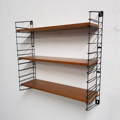 Teak & metal book shelves by Tomado, The Netherlands 1950's