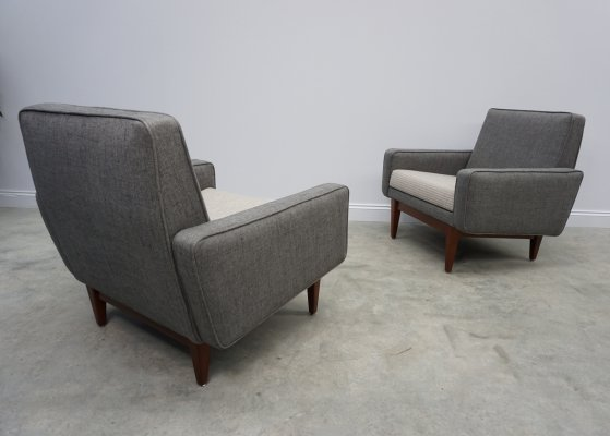 Pair of Loungers by Thonet in Grey & Cream, 1950's