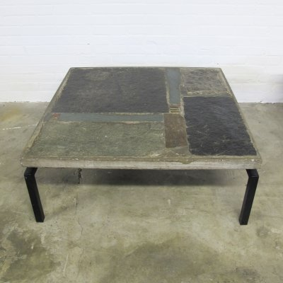 Early model natural stone coffee table by Paul Kingma, 1963