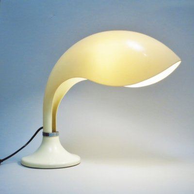 Rhea Minor desk lamp by Marcello Cuneo for Amphaglas, 1970s