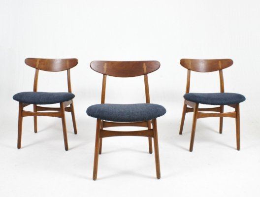 Set of 6 'CH30' chairs by Hans Wegner for Carl Hansen & Søn, 1950s