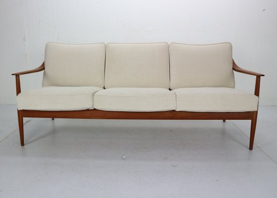 Midcentury Teak Three-Seat Sofa by Knoll Antimott from Willhelm Knoll, 1960