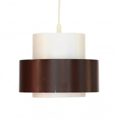 Pendant light 'Cylindus' by Uno & Östen Kristiansson for Luxus, Sweden 1970s