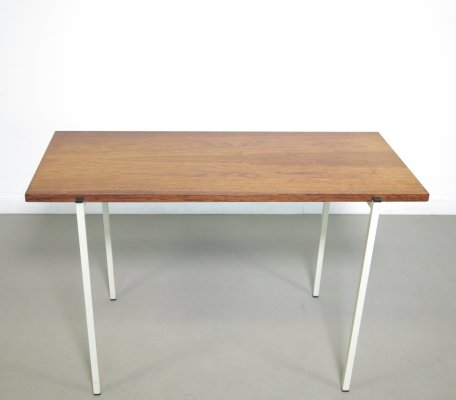 Teak side-table with a metal frame, ca 1960