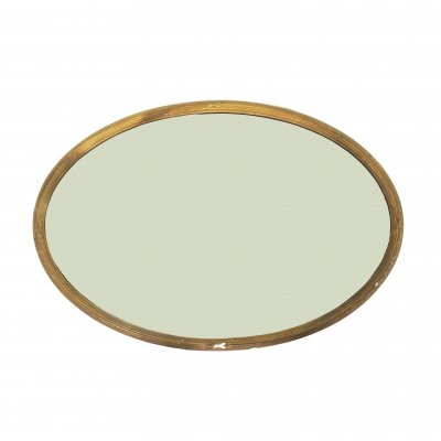 Large Carved Oval Gilt Mirror, 1920s
