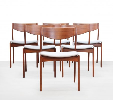 Set of 6 dining chairs by Erik Buch for O. D. Møbler, 1960s