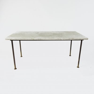 Rectangular Marble Coffee Table, 1970s