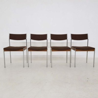 4 x Thereca dining chair, 1950s